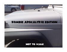 Zombie Apocalypse Edition Hood Decal Sticker Jeep Wrangler 4x4 TJ YJ CJ XJ JK