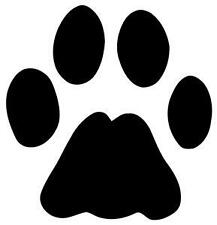 12 DOG PAW PRINT DECAL VINYL STICKER FOR CAR OR GUITAR