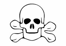 The Rebel Pirate Skull and Cross Bones Sticker Decal Graphic Crossbones