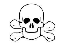El Rebelde con calavera pirata y huesos cruzados Sticker Decal Gráfico Crossbones V3