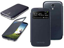 Flip S-VIEW Smart Battery Case Cover For Samsung GALAXY S4 i9500 i9505 BLACK