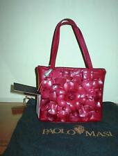PAOLO MASI Red Leather Evening Bag Purse Handbag NWT