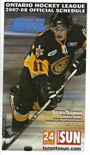 STEVEN STAMKOS Tampa Bay Lightning RARE Sarnia 2007 Sting OHL Schedule RC