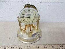 VINTAGE Jewelled German Made Skeleton Mantel clock