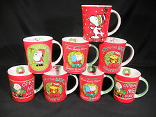 Peanut Character Christmas Cups Mugs Set of 8