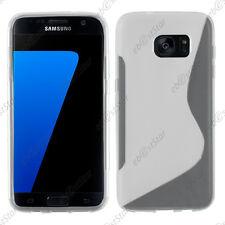Etui Coque Silicone Motif S-line Souple Transparent Samsung Galaxy S7 edge