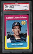 2001 Topps Archives #74 Gary Carter Expos 1975 Rookie PSA 10 Gem Mint