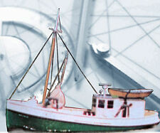"""Model Boat Plans Radio Control 34"""" Scallop Fishing Ship F/S Printed Plans +Notes"""
