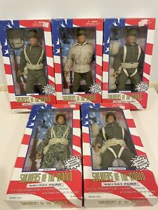Soldiers Of The World World War II Military Figure Poseable Lot Of 5 New In Box