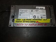 BMW USB AUDIO INTERFACE ULF MODULE #84109178898 *See item*