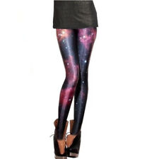 Fashion Women Digital Print Leggings Mix Color Printing Thin Shiny Leggings Pant