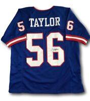Lawrence Taylor Signed NY Giants Football Jersey COA JSA Autograph HOF