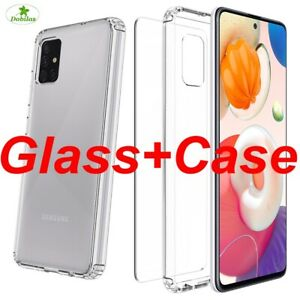 For Samsung Galaxy S9 S10 Plus Case Shockproof Cover + Tempered Screen Protector