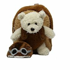 "Popatu ""Aviator Bear"" Plush Mini Backpack - Ages 3 & Up - Unisex - PO-092"