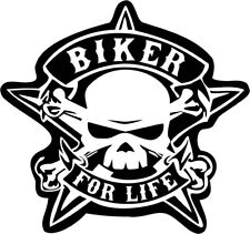 Biker for life Iron on Screen Print for fabric Machine Washable patch Motor Bike