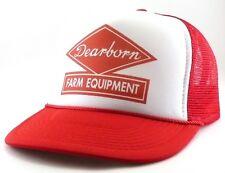 Dearborn Farm equipment Trucker Hat mesh hat snapback hat red new Farm hat