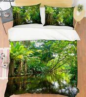 3D Green Forest ZHUA3522 Bed Pillowcases Quilt Duvet Cover Set Queen King Zoe