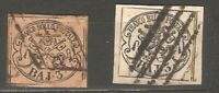 Italy Roman States LOT  Sc 4 4a  5 8  Used  FVF See DESCRIPTION SCAN