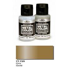 Vallejo Paints Metal Color VLJ-77725 Gold Metal Color 32ml Bottle
