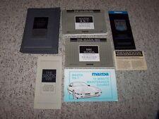 1989 Mazda RX-7 Factory Original Owner User Manual Guide Book Set Turbo