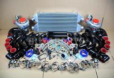 DIY TWIN TURBO KIT INTERCOOLER BLACK PIPE BR COUPLER for Nissan 300ZX Z32 V6