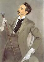 Oil painting male portrait count robert de montesquiou free shipping cost canvas