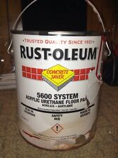 1~ RUST-OLEUM 261115 5600 Floor Paint,Safety Red,1 gal.  10Z893