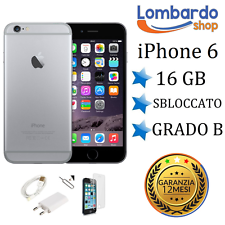 APPLE IPHONE 6 16GB GRADO B NERO SPACE GREY ORIGINALE RIGENERATO RICONDIZIONATO