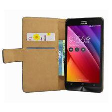 "Wallet BLACK Mobile Phone Asus ZenFone 2 Laser ZE500KL (5.0"") - Case Cover Pouch"
