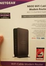 NETGEAR- N600 Dual-Band Modem Routerwith 8x4 DOCSIS 3.0 Cable Modem-Black