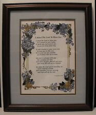 "Double Matted and Framed Plaque Sign ""I ASKED THE LORD TO BLESS YOU"".1990.."