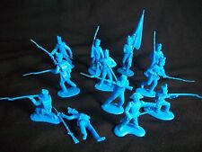 Classic Toy Soldiers Alamo Mexican infantry set#1 in Blue  X 12 Also Napoleonic