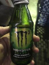 Japan 2016 MONSTER M3 energy drink GLASS BOTTLE empty used add Khaos Zero Ultra