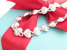 """Tiffany & Co Silver Heart Lock Key Chain Bracelet 7.5"""""""