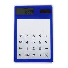 Calculadora ultra delgada con pantalla tactil de 8 digitos de energia solar tran