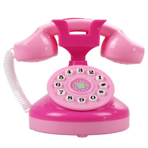 Educational Emulational Pink Phone Pretend Play Toys Girls Toy Gifts