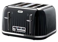 Breville Black 4 Slice Toaster Variable Slots Browning  Illuminated High Lift