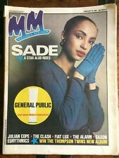 MELODY MAKER 18/02/1984 SADE Julian Cope Fiat Lux General Public Madonna Clash