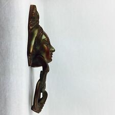 Brass Door Knocker Vintage look Brass Queen Head Door Knocker