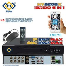 NVR 16 Canali e DVR 8 Canali UTC XVR 6 IN 1 1080P in IP 5MP Onvif Cloud P2P BNC