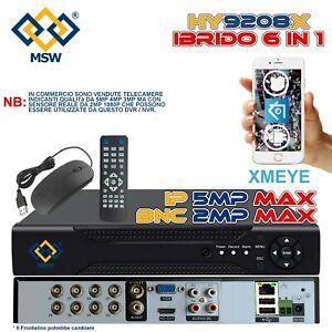 NVR 16 Canali e DVR 8 Canali UTC XVR 6 IN 1 1080P in IP 5MP Onvif Cloud P2P BNC