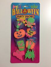 Vintage 90s Sealed LISA FRANK Halloween Party Favors 8 Ghoulish Erasers