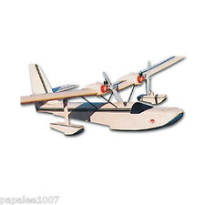 "Model Airplane Plans (RC): Delilah 38"" Semi-Scale Flying Boat - Twin .020 Motors"