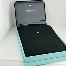 Tiffany & Co Black Leather Suede Necklace Presentation Gift Pouch Blue Box