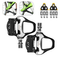 RockBros 1 Set Road Bike Clipless Bicycle Self-locking Pedals with SPD-SL Cleats