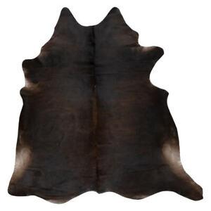Genuine Cowhide Rug - Exotic Dark - Soft Silky Hypoallergenic - Easy To Clean