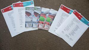 2020 & 2021 FA Trophy Final & FA Vase Final Programmes  & Team sheets x8Job lot