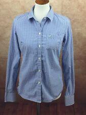c62756b6 American Eagle Favorite Blue White Check Top Blouse Shirt Women's 8 Medium