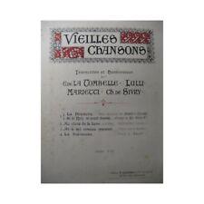 LULLI Au Clair de la Lune Chant Piano partition sheet music score