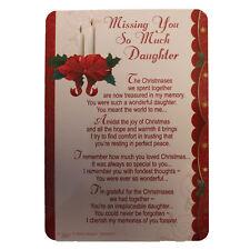 Memoria Amorevole Aperto presso la Tomba Natale Biglietto - Missing You Figlia